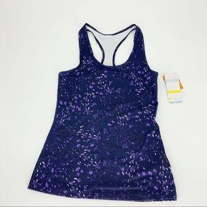 Zella Resolve Purple Confetti Print Racerback